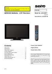 sanyo lcd 32xf7 manuals rh manualslib com Sanyo Repair Manual Sanyo 19 Vizon