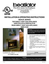 Heatilator GNDC33 Manuals