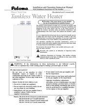 Paloma Tankless Water Heater Manuals