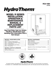 Hydrotherm R SERIES Manuals