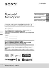 Sony Mex Xb100bt Manuals Manualslib