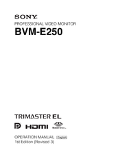Sony BVM-E250 Operation Manual