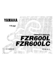 Yamaha FZR600LC Owner's Manual