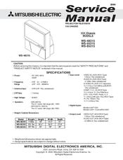 mitsubishi ws 55315 manuals rh manualslib com Mitsubishi TV WS-55315 mitsubishi ws-55315 service manual