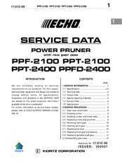 ECHO PPF-2100 SERVICE DATA Pdf Download