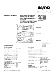 Sanyo FXC-425GD Service Manual