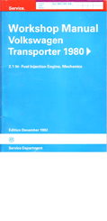 Volkswagen Transporter 1980 Workshop Manual