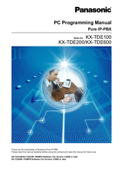 Panasonic KX-TDE200 Programming Manual