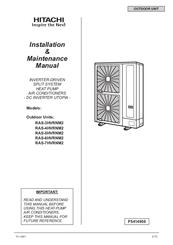 hitachi air conditioner installation manual