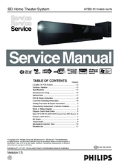 Manuals And User Guides For Philips Hts5131 We Have 4 Available Free Pdf Service Manual Manaul