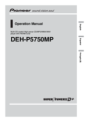 Pioneer DEH-P5750MP Operation Manual