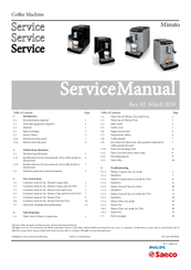 saeco minuto service manual pdf download rh manualslib com saeco aroma repair manual saeco xelsis repair manual
