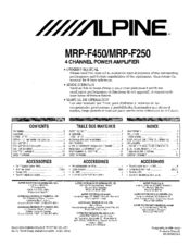alpine mrp f450 owner s manual pdf download rh manualslib com