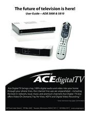 Ace Digital Tv ADB 3800 Manuals