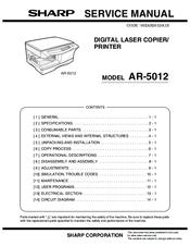 sharp ar 5012 manuals rh manualslib com sharp ar-5015 user manual Sharp AR M237 Toner