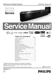 Manuals And User Guides For Philips Hts7140 12 We Have 3 Available Free Pdf Service Manual