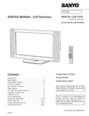sanyo lcd 32xa2 manuals rh manualslib com Sanyo Repair Manual 42 Sanyo TV Manual
