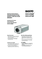 Sanyo VCC-3700P Instruction Manual