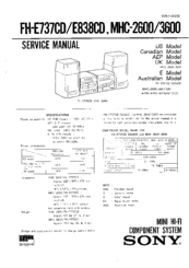 Sony FH-E838CD Service Manual