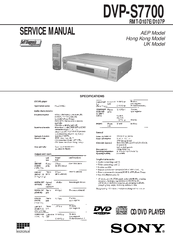 sony dvp s7700 manuals rh manualslib com sony dvp-s7000 service manual jvc hr-s7000 service manual