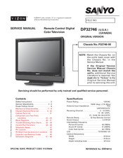 "Sanyo dp52848 52"" lcd tv manuals."