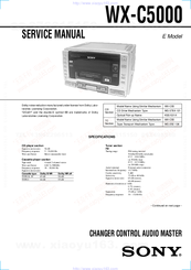 Sony WX-C5000 Service Manual