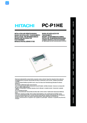 Hitachi PC-P1HE Installation And Operation Manual