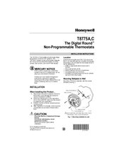 Honeywell THE DIGITAL ROUND T8775A Installation Instructions Manual