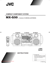 JVC SP-MXG50 Instructions For Use Manual