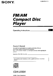 sony cdx l550x fm am compact disc player manuals Sony Cdx L550x Wiring Diagram sony cdx l550x fm am compact disc player operating instructions manual sony cdx l550x wiring diagram