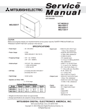 mitsubishi ws 55517 service manual pdf download rh manualslib com 2004 Mitsubishi 55 in Projection TV 55-Inch Mitsubishi Projection TV