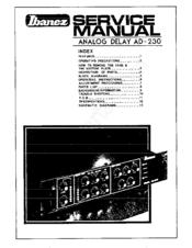 ibanez ad 230 manuals rh manualslib com ibanez tsa15h owners manual ibanez prestige owners manual