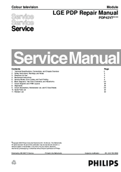 philips pdp42v7 series service manual pdf download rh manualslib com Truck Manual Service Manuals