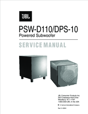 jbl psw d110 service manual pdf download rh manualslib com John Deere D110 Car D110