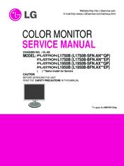 lg flatron l1750b service manual pdf download rh manualslib com lg flatron monitor owner's manual lg monitor service manual