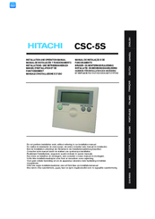 Hitachi CSC-5S Installation And Operation Manual
