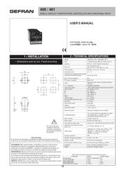 Gefran 400 инструкция на русском img-1