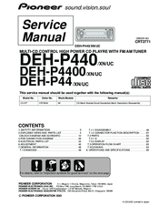 pioneer deh p440 manuals. Black Bedroom Furniture Sets. Home Design Ideas