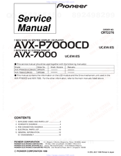 Pioneer AVX-P7000CDES Service Manual