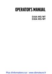 VOLVO PENTA D25A MS OPERATOR'S MANUAL Pdf Download
