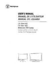westinghouse ltv 40w1 hdc manuals rh manualslib com Westinghouse Owner's Manual Westinghouse Owner's Manual
