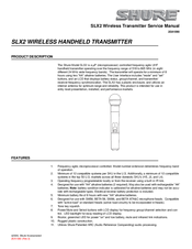 shure slx2 manuals rh manualslib com User Manual PDF shure slx4 owner manual