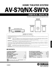 Yamaha AV-S70 Service Manual