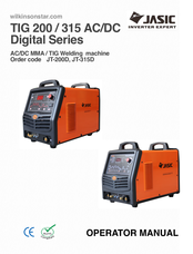 jasic tig 200 ac dc digital series manuals rh manualslib com TIG Welding Machines TIG Welder eBay