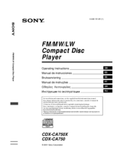 Sony CDX-CA750 Operating Instructions Manual