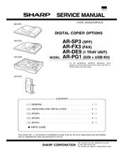 sharp ar sp3 spf manuals rh manualslib com Sharp AR M237 Toner Sharp AR M205 Printer Driver
