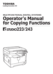 Toshiba E Studio 182 Service Manual