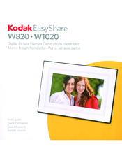 kodak w820 easyshare digital frame manuals rh manualslib com kodak easyshare sv710 digital picture frame instructions kodak easyshare sv1011 digital picture frame manual