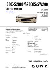 sony cdx gt51w wiring harness diagram sony cdx sw200 wiring harness diagram sony cdx-sw200 - fm/am compact disc player manuals