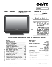 sanyo dp32648 31 5 lcd tv manuals rh manualslib com sanyo vizon tv manual sanyo tv manual pdf